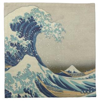 The Great Wave off Kanagawa Printed Napkin