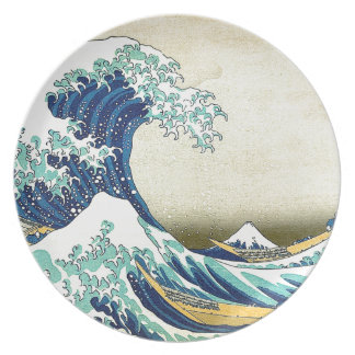 """""""The Great Wave Off Kanagawa"""" Party Plates"""