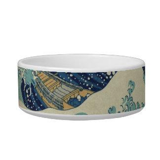 The Great Wave off Kanagawa Cat Food Bowls