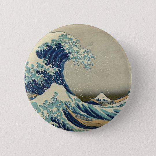 The Great Wave off Kanagawa Pinback Button