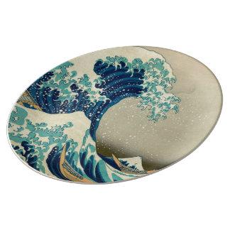 The Great Wave off Kanagawa Porcelain Plate