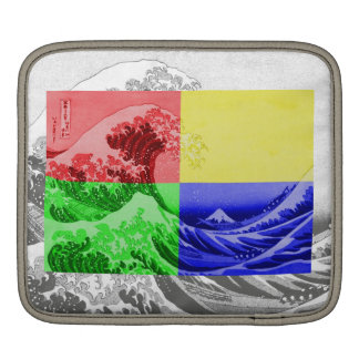 The Great Wave off Kanagawa (quadrant colors) Sleeve For iPads
