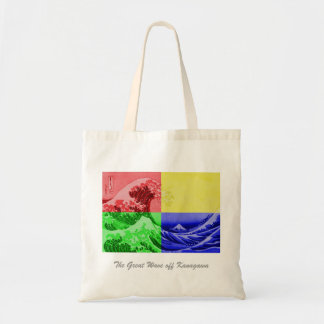 The Great Wave off Kanagawa (quadrant colors) Tote Bag