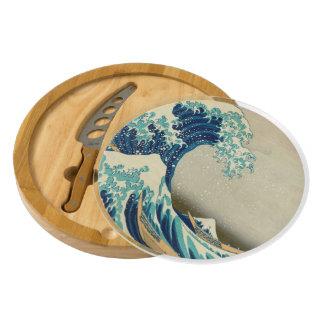 The Great Wave off Kanagawa Round Cheeseboard