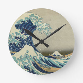 The Great Wave off Kanagawa Round Clock