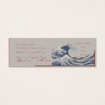 Professional Business The Great Wave off Kanagawa Skinny Business Card
