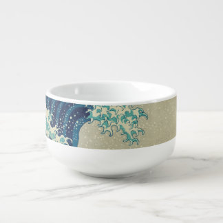 The Great Wave off Kanagawa Soup Bowl With Handle
