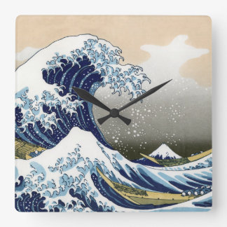 The Great Wave Off Kanagawa Square Wall Clock