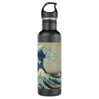 The Great Wave off Kanagawa Stainless Steel Water Bottle