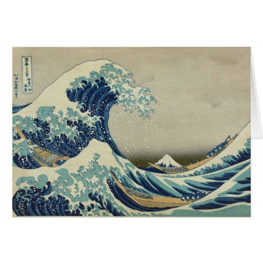 The Great Wave off Kanagawa Stationery Note Card