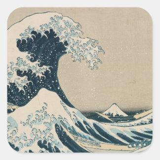 The Great Wave off Kanagawa Square Sticker