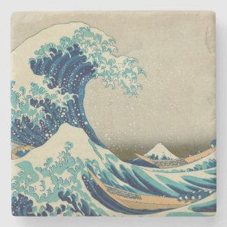 The Great Wave off Kanagawa Stone Beverage Coaster