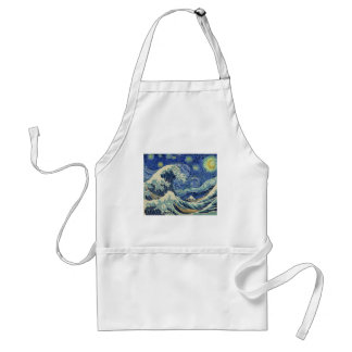 The Great Wave Off Kanagawa - The Starry Night Adult Apron