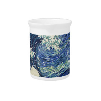 The Great Wave Off Kanagawa - The Starry Night Beverage Pitchers