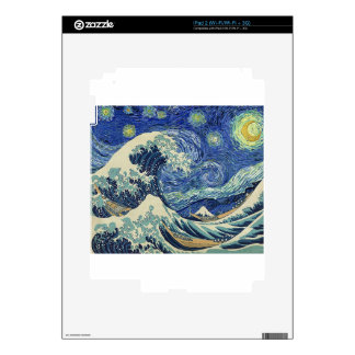 The Great Wave Off Kanagawa - The Starry Night Decal For iPad 2