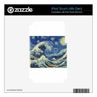 The Great Wave Off Kanagawa - The Starry Night Decal For iPod Touch 4G