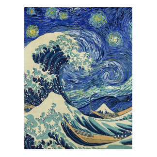 The Great Wave Off Kanagawa - The Starry Night Postcard