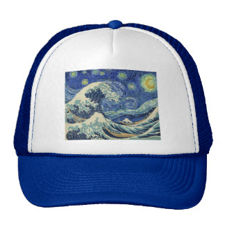 The Great Wave Off Kanagawa - The Starry Night Trucker Hat