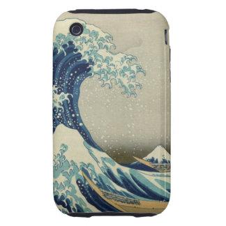The Great Wave off Kanagawa Tough iPhone 3 Case