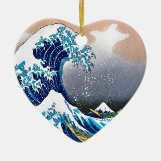 The Great Wave off Kanagawa Vector HD Ceramic Ornament