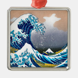 The Great Wave off Kanagawa Vector HD Metal Ornament