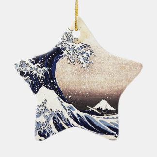 The Great Wave Off Kanagawa Vintage Japanese Art Ceramic Ornament