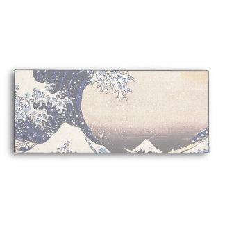 The Great Wave Off Kanagawa Vintage Japanese Art Envelope