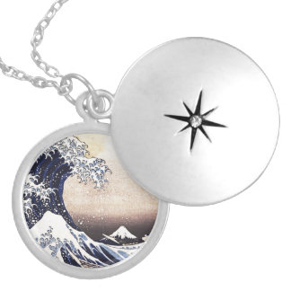 The Great Wave Off Kanagawa Vintage Japanese Art Locket Necklace