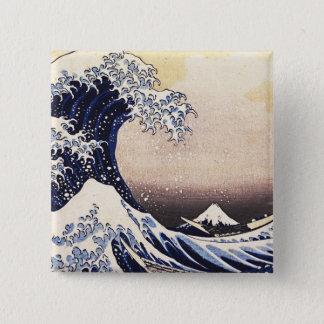 The Great Wave Off Kanagawa Vintage Japanese Art Pinback Button