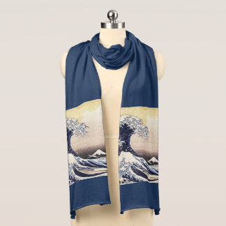 The Great Wave Off Kanagawa Vintage Japanese Art Scarf