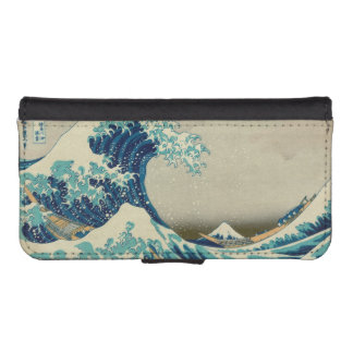 The Great Wave off Kanagawa Wallet Phone Case For iPhone SE/5/5s