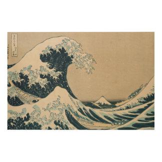 The Great Wave off Kanagawa Wood Wall Art
