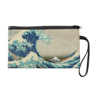 The Great Wave off Kanagawa Wristlet Purse