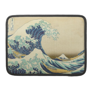 The Great Wave Off Shore.. Macbook Pro Flap Sleeve