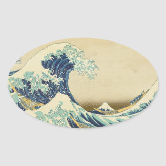 The Great Wave Off Shore of Kanagawa Oval Sticker