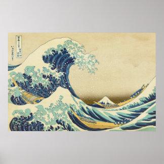The Great Wave Off Shore of Kanagawa Poster