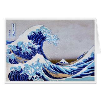 The great wave off shore of Kanagawa Restored Card