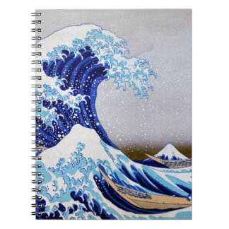 The great wave off shore of Kanagawa Restored Notebook