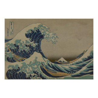 The great wave off the shore of Kanagawa Print