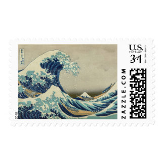 The Great Wave Postage Stamps