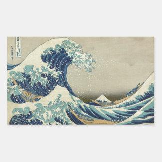 The Great Wave Rectangular Sticker