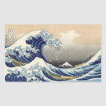 The Great Wave Rectangular Stickers