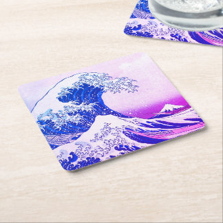 The Great Wave Square Paper Coaster
