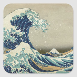 The Great Wave Square Sticker