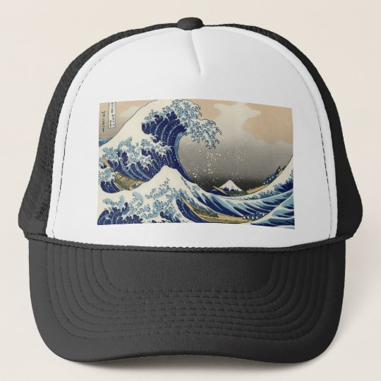 the great wave trucker hat