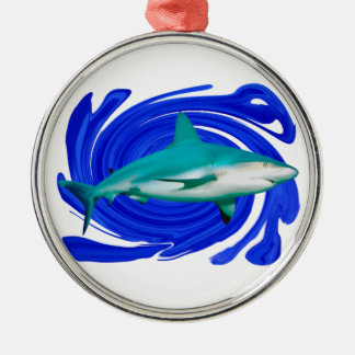 The Great White Metal Ornament