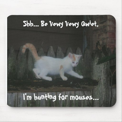 The Great White Mousehunter Mouse Pad