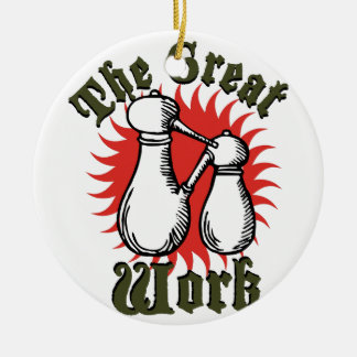 The Great Work Ceramic Ornament