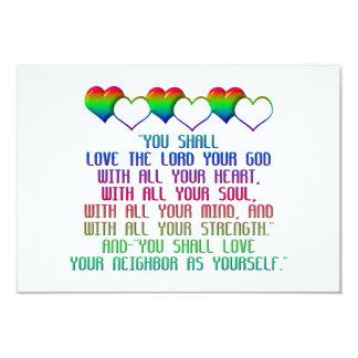 The Greatest Commandment 3.5x5 Paper Invitation Card
