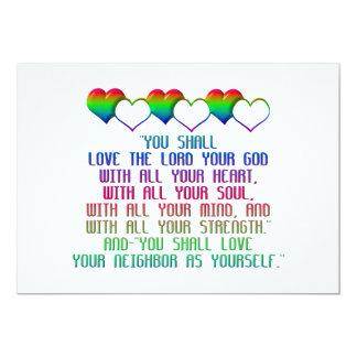 The Greatest Commandment 5x7 Paper Invitation Card